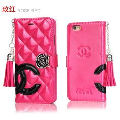 CC iPhone iPhone8/7/6S/6/Plus Wallet Case Leather Shine Rose