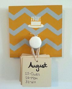 Love this simplified version of the birthday board.