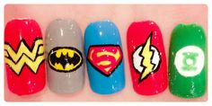 The Polish Geek: DC Comics The Justice League inspired nails!!