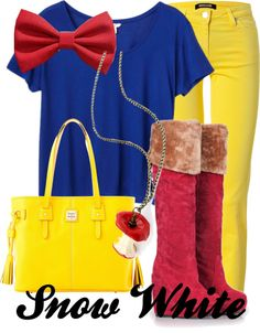 """""""Snow White"""" by thedisfan ❤ liked on Polyvore"""