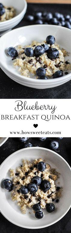 blueberry breakfast quinoa by @howsweeteats I howsweeteats.com