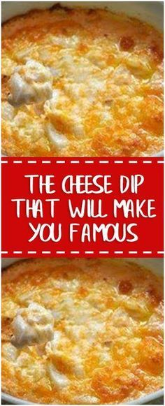 The Cheese Dip That Will Make You Famous #cheesedip #foodlover #comfortfood