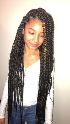 Jumbo Box Braids By Braidsasyoulikeit On Instagram