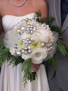 New Years Eve wedding bouquet