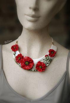 Polymer Clay Flowers, Polymer Clay Jewelry, Resin Jewelry, Leather Jewelry, Jewelry Crafts, Jewelry Art, Unique Jewelry, Felt Necklace, Braided Necklace