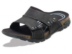 072b9cd85b2bd1 Ventura Adjustable Double Strap Slide Men s Sandal in black. Lynco