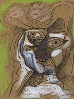 Tête au Chapeau, 1971|© Pablo Picasso