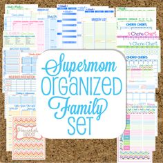 Happy Organized Life......great printables!