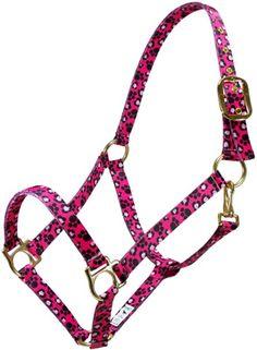 Ronmar Hot Color Premium Halters - Pink Leopard Paw | ChickSaddlery.com