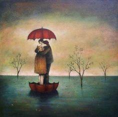 """""""Giulio la strinse più forte, chiedendosi chi stesse abbracciando l'altro, chi dava e chi riceveva. In un abbraccio viene un momento in cui non si distingue più, e quando accadde la prima volta, qualcuno lo chiamò amore.""""  [""""Cose che nessuno sa"""" Alessandro D'Avenia]      (Img: Duy Huynh, """"Nevermind the clouds"""", 2009)"""