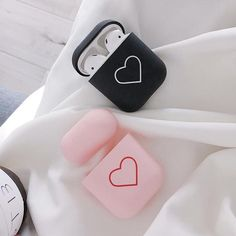 Fashion Cute Heart Couples Case For Airpods Case Hard PC Wireless Bluetooth Earphone Case Cover For Air Pods Earphone Accessorie 1 Cute Phone Cases, Iphone Phone Cases, Fone Apple, Capas Iphone 6, Couple Cases, Bff, Accessoires Iphone, Earphone Case, Airpod Case