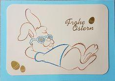Ostern - Fadengrafik Grußkarten Set Ostern 09 - ein Designerstück von Bastelfan1809 bei DaWanda Embroidery Cards, Card Patterns, Kids Cards, Iris, Stitching, Place Cards, Anna, Presents, Easter