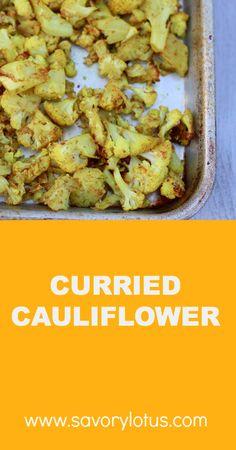 Curried Cauliflower    savorylotus.com