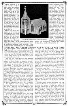 Putz-style church - pattern & tutorial