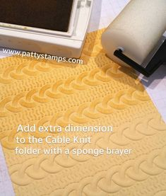 Stampin' Up! Cable Knit embossing folder - add dimension with the sponge brayer…