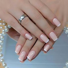 Want to know how to do gel nails at home? Learn the fundamentals with our DIY tutorial that will guide you step by step to professional salon quality nails. French Manicure Acrylic Nails, French Nails, Gel Nails, Glitter Nails, Elegant Nail Designs, Beautiful Nail Designs, Cute Nails, Pretty Nails, Nailed It