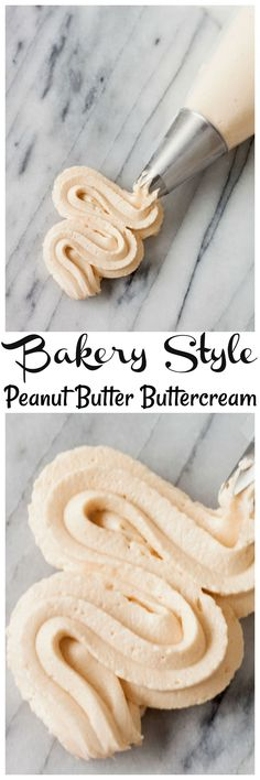 Bakery Style Peanut Butter Butter cream frosting. The perfect Peanut butter frosting for making cupcakes and cakes!
