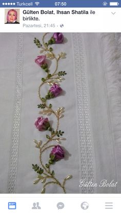 Wonderful Ribbon Embroidery Flowers by Hand Ideas. Enchanting Ribbon Embroidery Flowers by Hand Ideas. Hand Embroidery Tutorial, Hand Embroidery Designs, Embroidery Patterns, Silk Ribbon Embroidery, Crewel Embroidery, Brazilian Embroidery, Ribbon Art, Satin Stitch, Embroidery Techniques