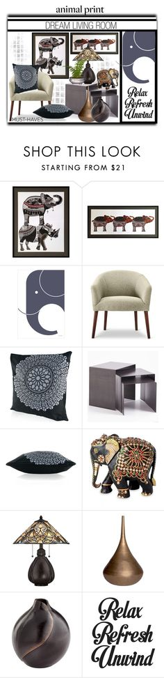 """[ E ] Is for Elephants."" by slynne-messer ❤ liked on Polyvore featuring interior, interiors, interior design, home, home decor, interior decorating, Art for Life, NOVICA, Quoizel and Tom Dixon"