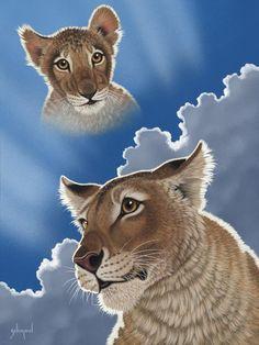 Schimmel Art. Big Cats Art, Cat Art, Beautiful Cats, Animals Beautiful, Beautiful Images, Colorful Animals, Cute Animals, Cute Animal Clipart, Lion Drawing