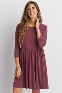 American Eagle Outfitters AEO Soft Babydoll Dress