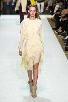 Claire Waight Keller is Paris' big romantic. Her Chloé runways always read like a love letter to a softer, gentler way of dressing, to women looking and feeling like women who are grown-up but young at heart.