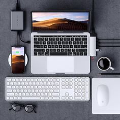 Enjoy an extended wireless keyboard with full numeric keypad, perfect for data entry, finance applications or accounting tasks. With responsive scissor-switch keys, the keyboard captures every keypress for fast and precise typing. Macbook Air, Macbook Pro 13, Pc Setup, Desk Setup, Bluetooth Keyboard, Computer Keyboard, Computer Setup, Apple Watch, Apple Iphone