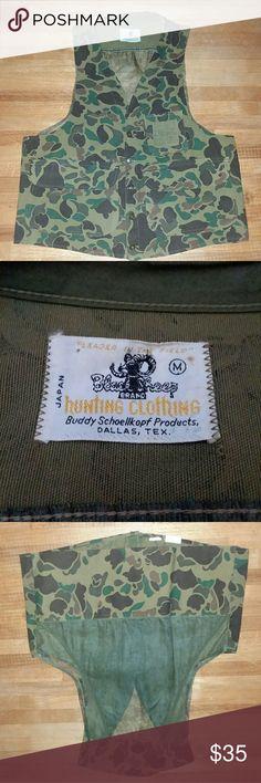 Vintage camouflage vest Vintage Black Sheep hunting clothing Black Sheep Jackets & Coats Vests