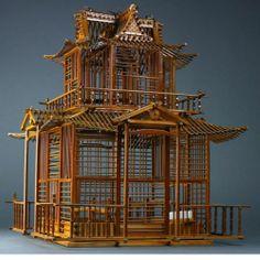 Bamboo Pagoda Birdcage in Kinkakuji style