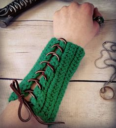 Archery bracers are a quick accessory to throw on to add that finishing touch to your wardrobe. . Head on over to crochet.etsy.com (link in bio) to find your own pair!  #crochels #etsygifts #etsyfinds #etsyseller #etsyforall #supporthandmade #handmade #smallbusinesslove #supportsmallbusinesses  #handmadeatamazon #goteamflourish #kawaiicrochet #fantasy #fantasyworld #geekery #enchanted #fantasylife #bracers #archery #gauntlets #cosplaygirl #cosplaying #cosplay #larp #larping #fantasyrp…
