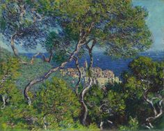Bordighera - Claude Monet, 1884 Chicago Art Institute, Chicago, IL http://www.artic.edu/ In 1883, Monet went with Renoir on a brief trip to the Mediterranean Italian Riviera. Monet obtained a letter of introduction to M. Moreno, the owner of the  Bordighera estate where he painted  five landscapes