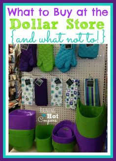 """*Get more FRUGAL Articles, tips and tricks from Raining Hot Coupons here* I spent some time…actually a lot of time at Dollar Tree and scoped out the """"Good"""" and """"Bad"""" b… Saving Ideas, Money Saving Tips, Money Savers, Dollar Store Crafts, Dollar Stores, Thrift Stores, Vida Frugal, Frugal Tips, E Mc2"""