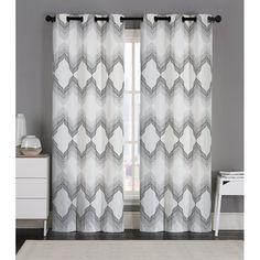 Swanton Geometric Room Darkening Grommet Curtain Panels