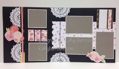 Double Page Scrapbook Layout. The two double page layouts I designed use the papers, die cuts  and Picture My Life cards  are from the Close To My Heart Cut Above™ Layout Kit—Forever & Always. Snips, Snaps, and Scraps: Seasonal Expressions 1 New Product Blog Hop