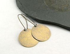 Dangle Earrings – Long Minimalistic Brass. Earrings. – a unique product by Maymana via en.DaWanda.com