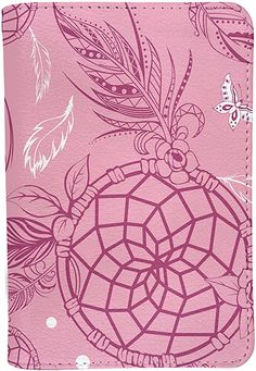 Amazon.com | Pink Dreamcatcher Personalized Leather RFID Passport Holder Cover - Travel Wallet | Passport Wallets Passport Wallet, Passport Cover, Travel Accessories For Men, Lonely Planet, Leather Craft, Leather Wallet, Dream Catcher, Wallets, Amazon
