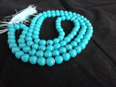 Turquoise Necklace 8MM 108 Howlite Turquoise by beadsincredible, $14.99