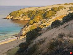 Hidden Beach, Catalina Island by Brian Blood Oil ~ 12 x 16
