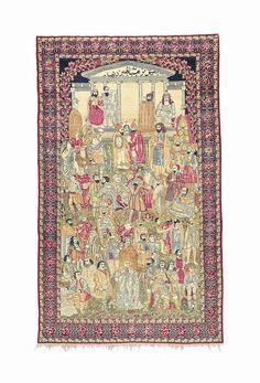 KIRMAN MASHA'IR RUG  SOUTH EAST PERSIA, CIRCA 1910  Depicting the great leaders of the world,   7ft.11in. x 4ft.9in. (239cm. x 144cm.)