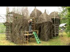 "Watch a time lapse video as Lewis Ginter Botanical Garden artist-in-residence, Patrick Dougherty, completes his large-scale, sculpture of woven sticks & saplings in the Anderson Meadow, with the help of Andy Lynch, and Garden volunteers. We are calling the process ""Meadowmorphosis."" The sculpture, named Diamonds in the Rough, was completed on May 22, 2011, and will be on display for years to come"