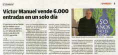 """Conciertos """"50 años no es nada"""": Noticia aparecida en """"El Comercio"""", 25 de febrero de 2014"""