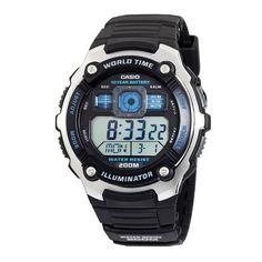 Casio Men's AE2000W-1AV Silver-Tone and Black Multi-Functional Digital Sport Watch Casio. $26.99. Save 32%!