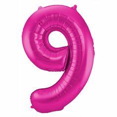 Cijfer 9 ballon roze. Een rozekleurige folie ballon in de vorm van het cijfer 9 om zelf op te blazen. De ballon is opgeblazen ongeveer 86 cm groot. U kunt de ballon heel gemakkelijk met een ballonnenpomp opblazen. U kunt de ballon ook zelf vullen met helium wat bij ons in tankjes verkrijgbaar is. De ballon wordt dus zonder helium geleverd. Met een helium tank geschikt voor 30 ballonnen kunt u circa 4 ballonnen vullen en met een helium tank geschikt voor 50 ballonnen kunt u circa 6 a 7…