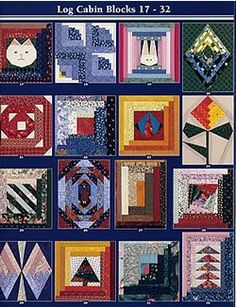 Log Cabin Blocks 17-32