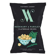 victoria amory rosemary and parsley flatbread crisps
