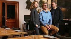 Deborah Blank, Angus Burton and Luke Burgess are running a pop-up restaurant. Picture: SAM ROSEWARNE