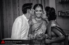 Hindu Wedding Ceremony - Bride with her lovely parents