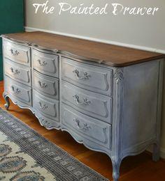Vintage French Dresser www.thepainteddrawer.com
