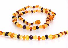 Baltic Amber Teething Necklace, Baltic Amber Jewelry, Free Stories For Kids, Jewelry Necklaces, Beaded Bracelets, Jewellery, Natural Pain Relief, Blue Gift, Unisex Baby