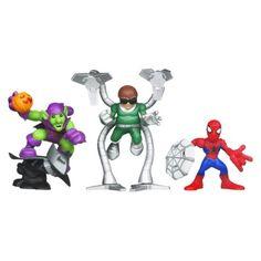 Amazing SpiderMan Super Hero Squad Super Villan Surprise SpiderMan - Doc Ock Green Goblin (3 Pack)